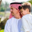 Arabic father and son. — Stock Photo #65580843