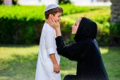 Arabic mother and son — Stock fotografie