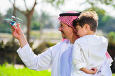 Arabic father and son. — Stock Photo