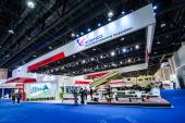 The International Defence Exhibition and Conference, IDEX.Abu-Dhabi,UAE. — Stock Photo