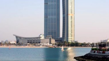 Water activities in Abu Dhabi lagoon ,UAE . — Wideo stockowe