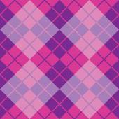 Argyle Design in Purple and Pink — Stock Vector