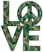 Camo Love Peace — Stock Vector