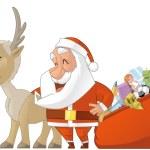 Santa and reiindeer — Stock Photo #59432629