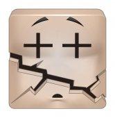 Square emoticon broken — Stock Photo