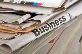 Business newspapers — Stock Photo