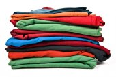 Stack of clothes — Stock Photo