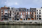 Embankment in Liege — Stock Photo