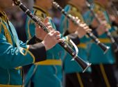 Kazakhstan military band — Stock Photo