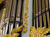 Pipe organ — 图库照片