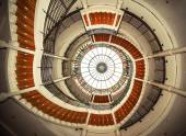 Upside view of a spiral staircase  — Stock Photo
