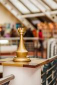 Rook in interior of Museum of chess fame — Foto de Stock