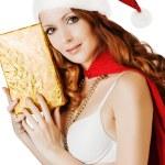 Beautiful santa claus woman — Stock Photo #58508601