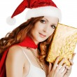Beautiful santa claus woman — Stock Photo #58508605