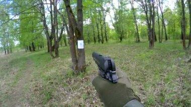 Slow motion shots from airsoft handgun — Stock Video