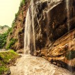 Chegem waterfalls in canyon and mountain rough river — Stock Photo #78804960