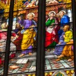 COLOGNE, GERMANY - AUGUST 26: Stained glass church window with Pentecost theme in the cathedral on August 26, 2014 in Cologne — Stock Photo #52275687