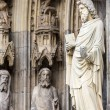 The cathedral of Cologne. Detail from facade — Stock Photo #52275853
