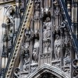 The cathedral of Cologne. Detail from facade — Stock Photo #52275863