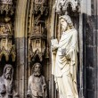The cathedral of Cologne. Detail from facade — Stock Photo #52275865