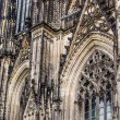 The cathedral of Cologne. Detail from facade — Stock Photo #52275875