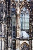 La cathédrale de cologne. détail de la façade — Photo