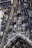 The cathedral of Cologne. Detail from facade  — Stock Photo