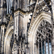 The cathedral of Cologne. Detail from facade — Stock Photo #52550927