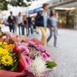 Flower stand in the center of Prague — Stock Photo #52551091