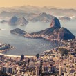 Rio de Janeiro, Brazil. Suggar Loaf and Botafogo beach viewed from Corcovado — Stock Photo #52723661