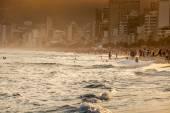 View of Ipanema Beach in the evening, Brazil  — Stock Photo