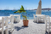 Beautiful cafeteria at the beach, Greece  — Stock Photo