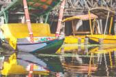 Shikara boat in Dal lake , Kashmir India  — Stock Photo
