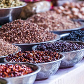 Spices at the indian spice market in Delhi — Stock Photo