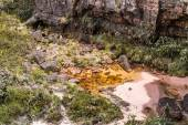 Bizarre ancient rocks of the plateau Roraima tepui - Venezuela, Latin America  — Stock Photo