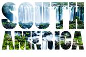 Word South America - Iguassu Falls, the largest series of waterfalls of the world — Stock fotografie