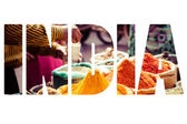 Traditional spices and dry fruits in local bazaar in India.  — Stock Photo