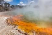 Champagne Pool in Waiotapu Thermal Reserve, Rotorua, New Zealand — Stock Photo