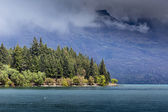 Landscape of lake in the south Island, Queenstown New Zealand  — Stock Photo
