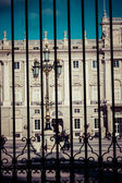 The Palacio Real de Madrid or Royal Palace of Madrid is the official residence of the Spanish Royal Family at the city of Madrid — Stock Photo