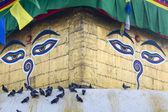 Stupa in Swayambhunath Monkey temple in Kathmandu, Nepal. — Zdjęcie stockowe