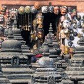 Swayambunath temple in Kathmandu, Nepal — Stok fotoğraf