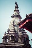 Temples of Durbar Square in Bhaktapur, Kathmandu, Nepal. — Stock Photo