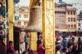 Boudhanath stupa katmandu vadisi'nde, nepal — Stok fotoğraf