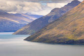 Queenstown view from above, Otago region, South Island, New Zeal — Stock Photo