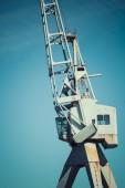 Dockside crane,Wellington harbour New Zealand. — Stock Photo