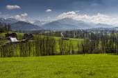 Panorama of Tatra Mountains in spring time, Poland — Stock Photo