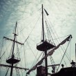 Galleon is big tourist attraction of Tri city in Poland — Stock Photo #73602291