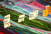 Market stall full of candys in Poland. — Stock Photo