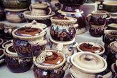 Traditional ceramics from polish market. — Stock Photo
